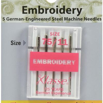 Klasse Klasse Needles- Embroidery 75/11