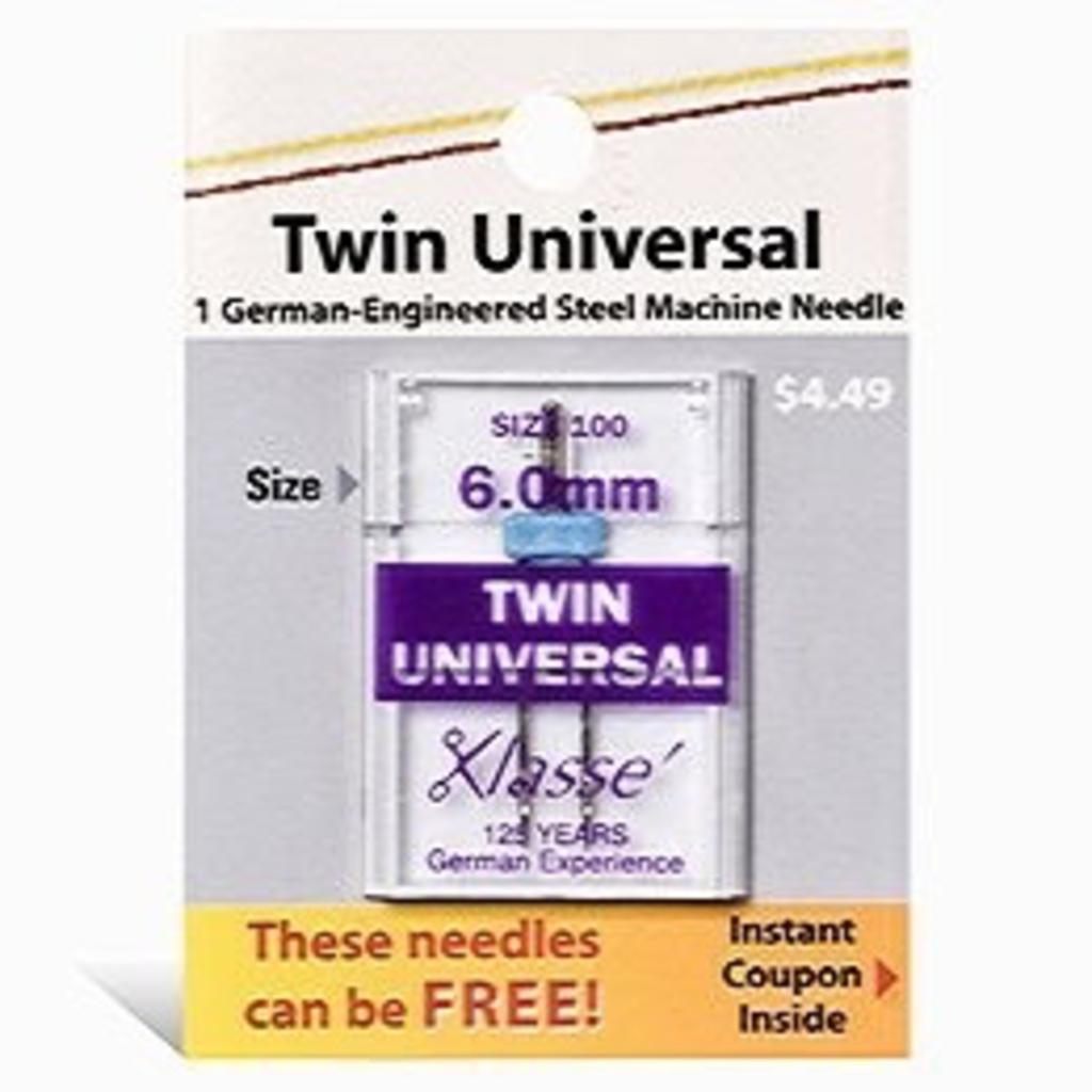 Klasse Klasse Needles- Twin Universal 6.0mm/100