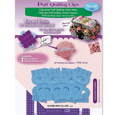 Clover Needlecraft Inc. Puff Quilting Clips- Small