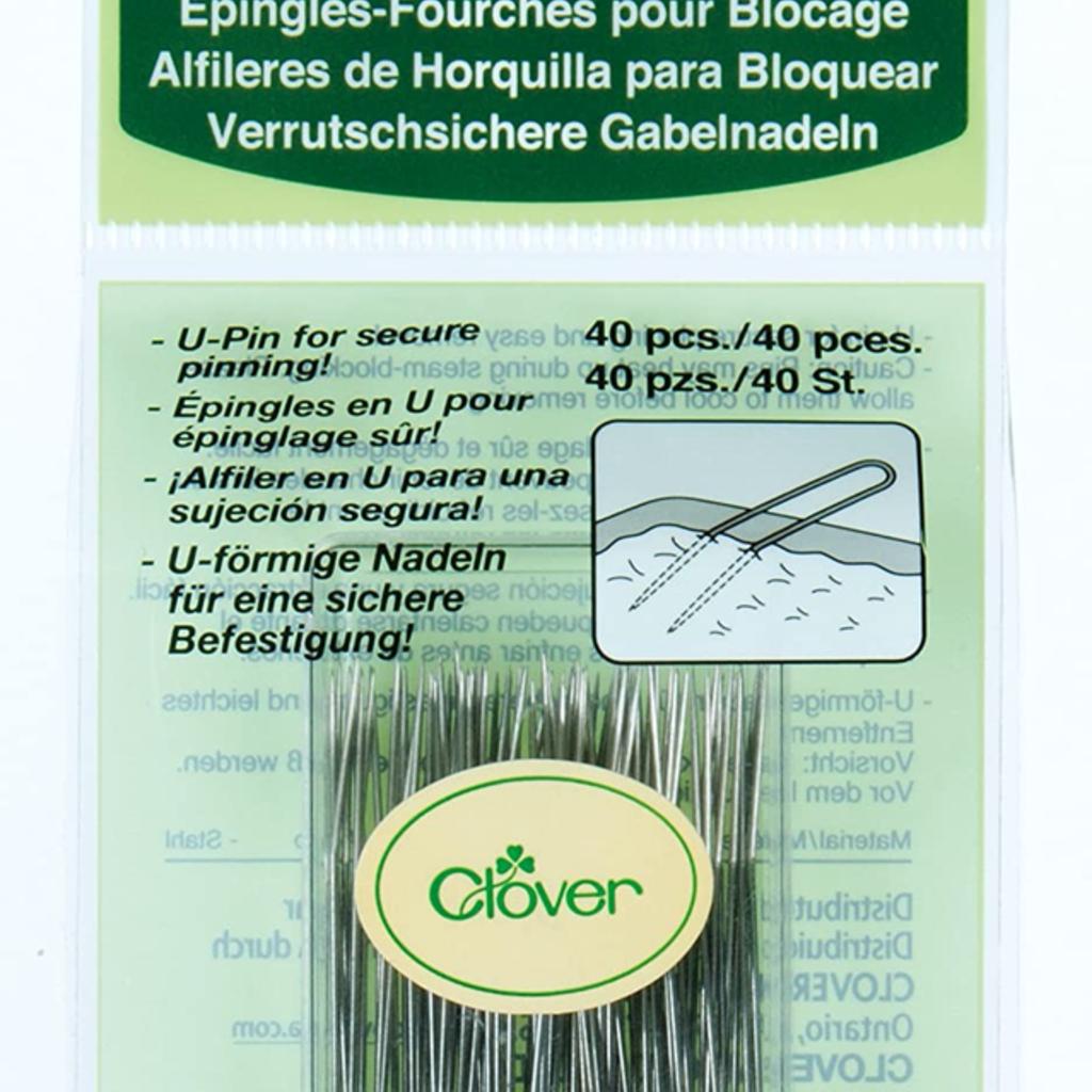 Clover Needlecraft Inc. Fork Blocking Pins 40pc