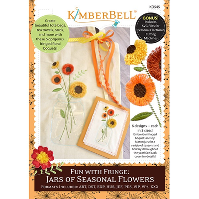 Kimberbell Fun with Fringe- Jars of Seasonal Flowers CD