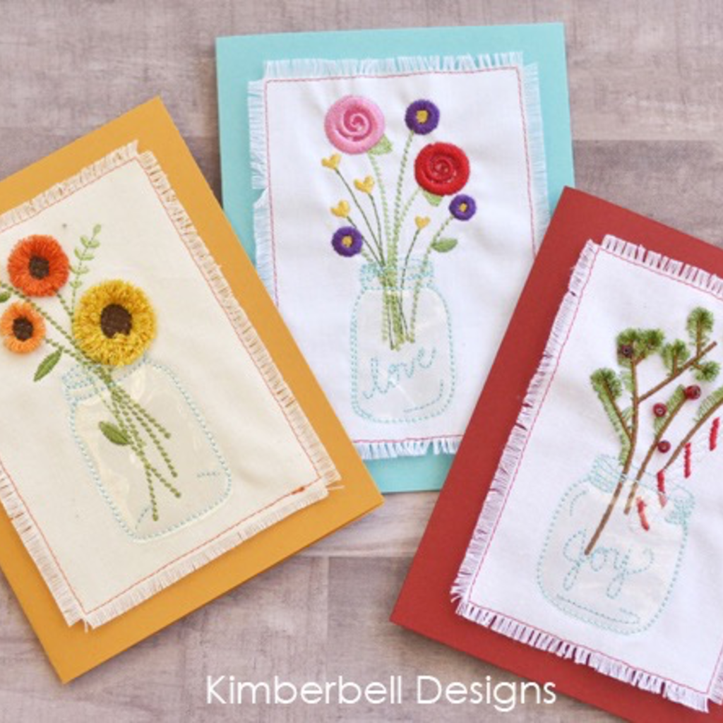 Kimberbell Fun with Fringe- Jars of Seasonal Flowers CD