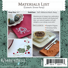Kimberbell Cutwork Dinner Party CD