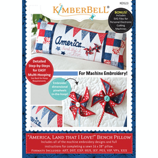Kimberbell America, Land That I Love Bench Pillow CD