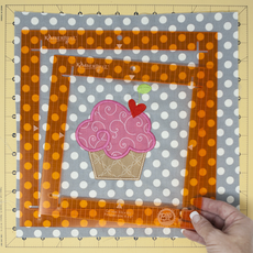 Kimberbell Orange Pop Ruler Set- Square