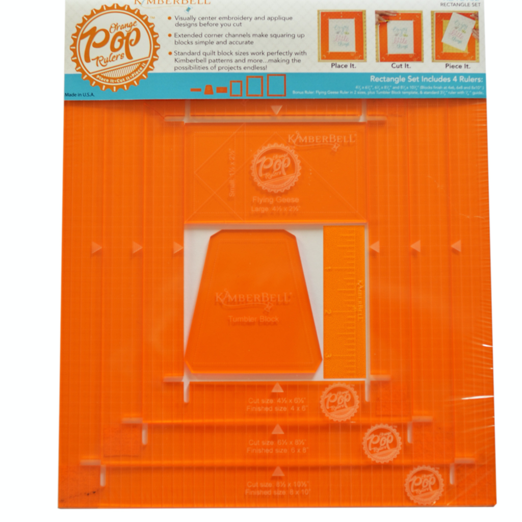 Kimberbell Orange Pop Ruler Set- Rectangle