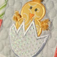 Kimberbell Applique Glitter Sheet- White Polka Dot