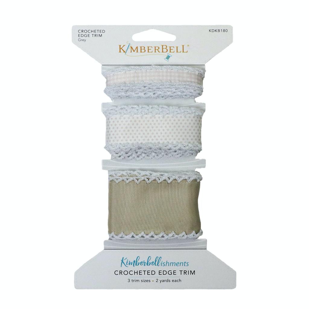 Kimberbell Crocheted Edge Trim- Grey