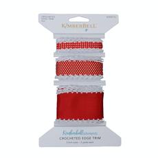 Kimberbell Crocheted Edge Trim- Red
