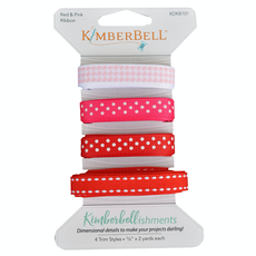 Kimberbell Kimberbellishments Red and Pink Ribbon Set