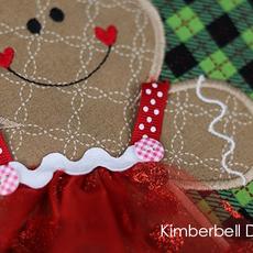 Kimberbell Glitter Dot Organza Set- Red, Purple, Silver
