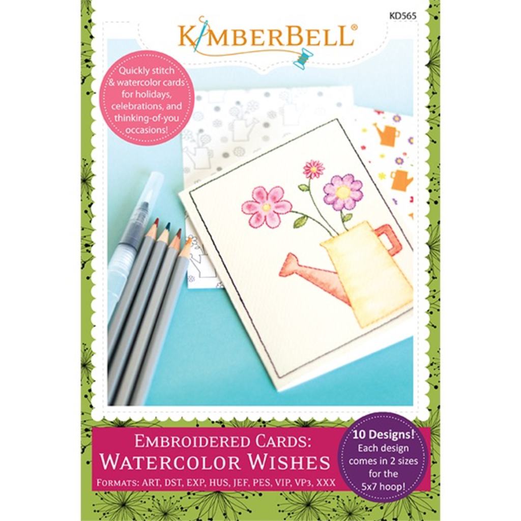 Kimberbell Embroidered Cards- Watercolor Wishes Embroidery CD