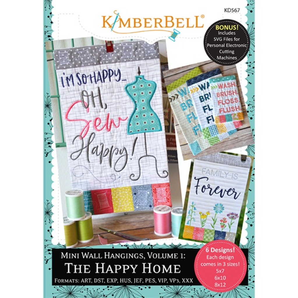 Kimberbell Mini Wall Hangings Vol. 1- The Happy Home CD