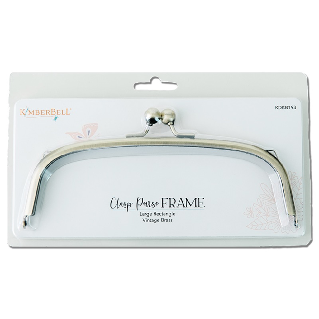 Kimberbell Clasp Purse Frame— Vintage Brass- Rectangle, large