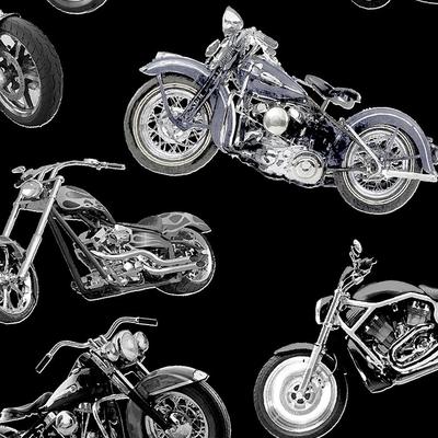 Timeless Treasures Motercycles- Fun-C7717 Black