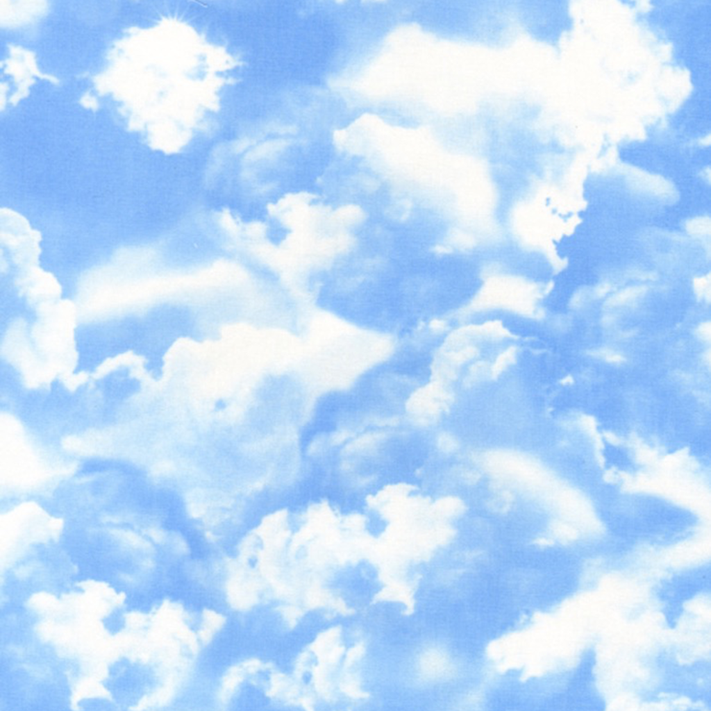 Timeless Treasures Clouds- GAIL-C9083 Blue