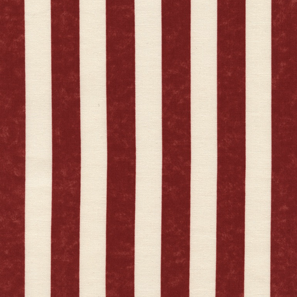 Timeless Treasures Awning Stripe- USA-C2851 Red