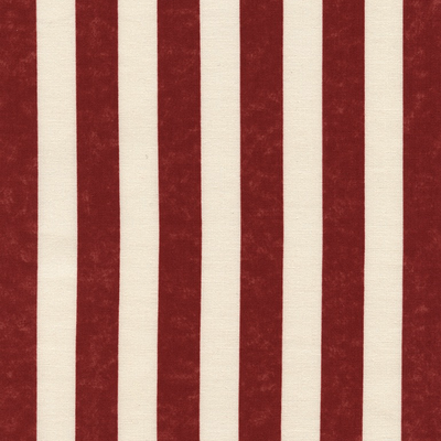 Timeless Treasures Awning Stripe- USA-C2851 Red