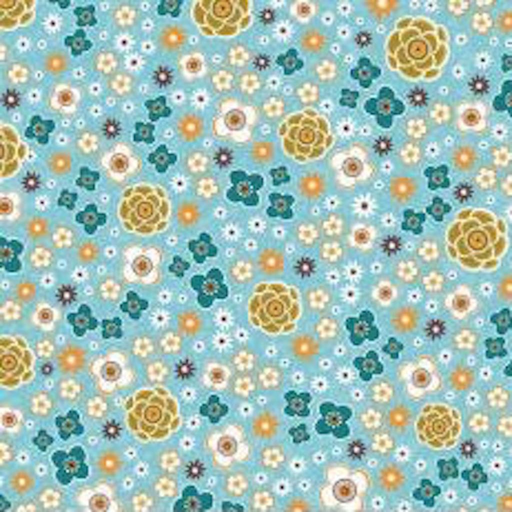 Riley Blake Enchanted garden- C8512 Turquoise