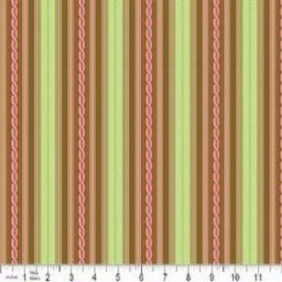 Riley Blake Nantucket Summer- C3503 Green Stripe