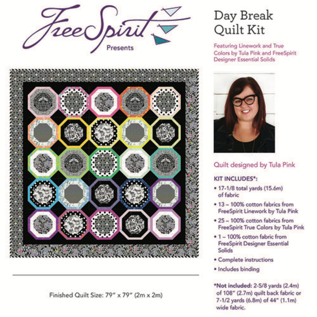 Tula Pink Tula Pink Linework- Daybreak Quilt Kit