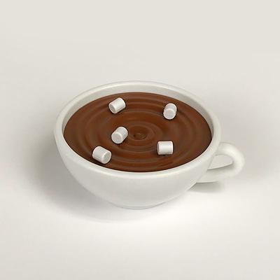 Hot Chocolate Push Pin Holder