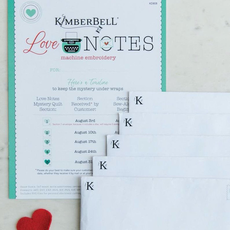 Kimberbell Love Notes Mystery Quilt Pattern with Machine Embroidery CD