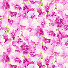 Clothworks Orchid Fancy Packed Floral- Y2947-76 Light Fuchsia