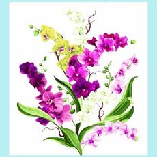 Clothworks Orchid Fancy Panel- Y2945-1 White