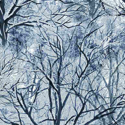 Timeless Treasures Bare Trees- ICE-C7834 White