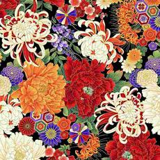 Timeless Treasures Koko- En Florals Medium- KOKO-CM7874 Multi