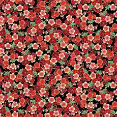 Timeless Treasures Packed Cherry Flowers- KOKO-CM7877 Red