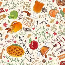 Timeless Treasures Apple Harvest Foods- GAIL-C7866 Natural