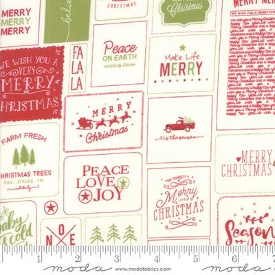 Moda The Christmas Card Red Green- 5770 24 Multi