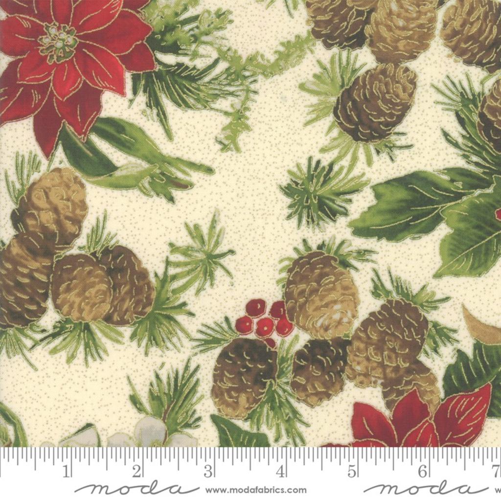Moda Poinsettias Pine Cream- 33510 11M Natural