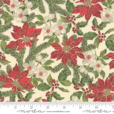 Moda Poinsettias Pine Cream- 33511 11M Natural