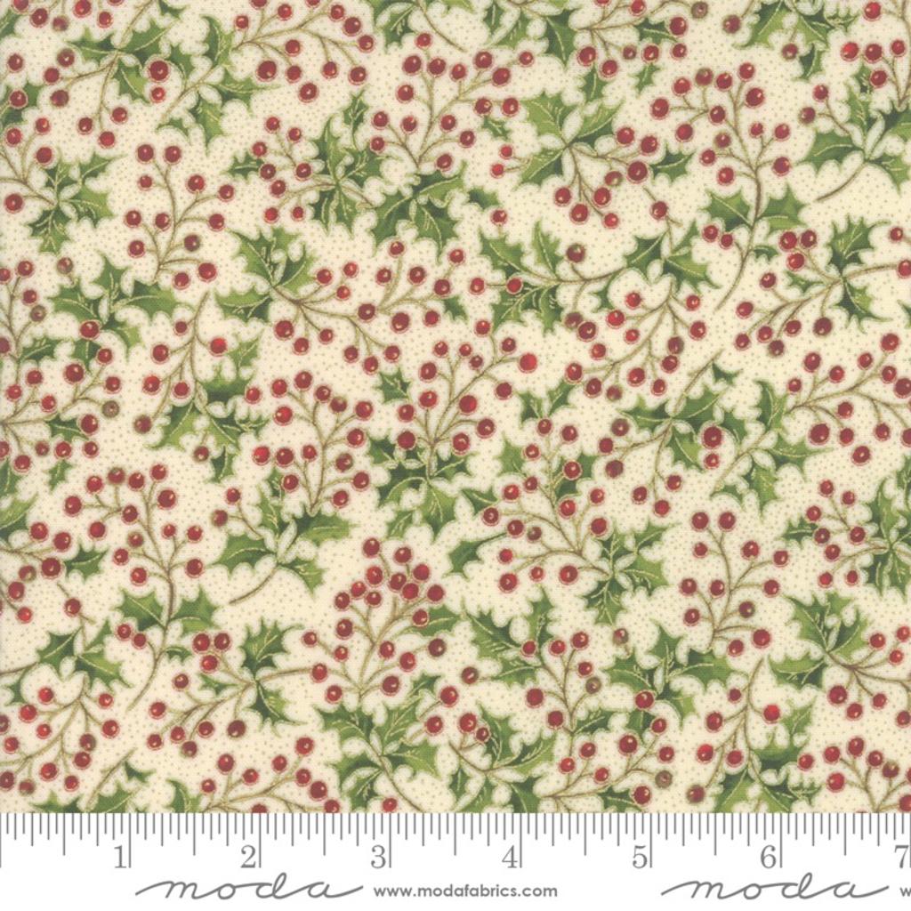 Moda Poinsettias Pine Cream- 33514 11M Natural