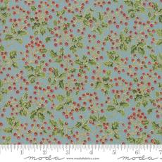 Moda Poinsettias Pine Frost- 33514 16M Aqua