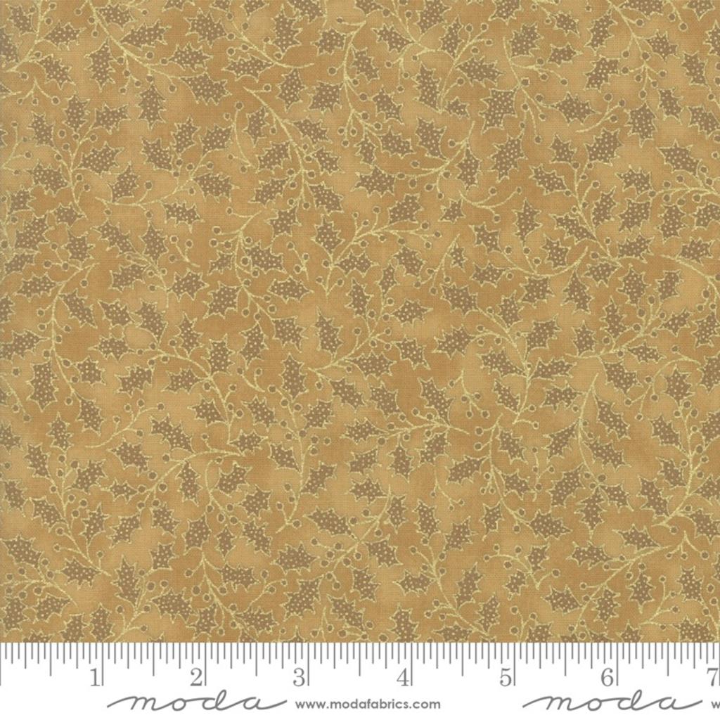 Moda Poinsettias Pine Gold- 33515 18M Gold