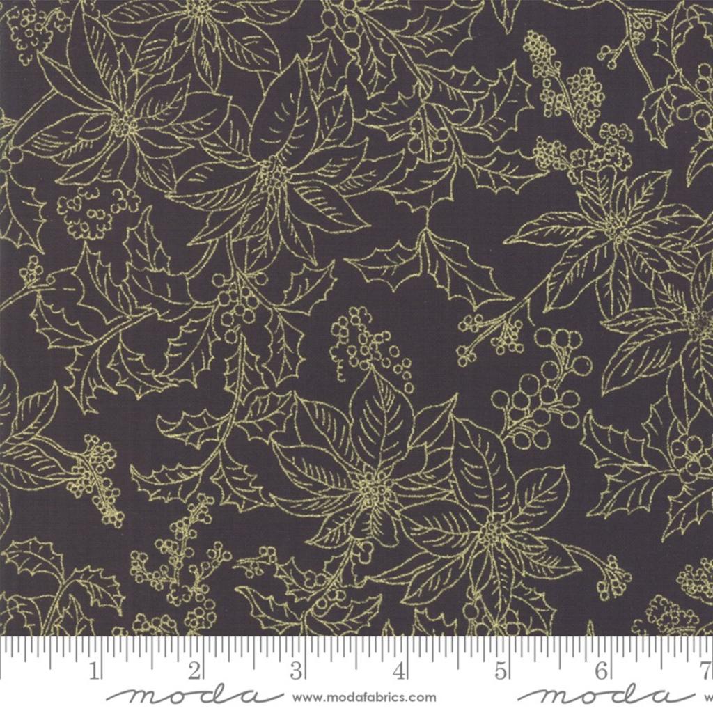 Moda Poinsettias Pine Ebony- 33516 14M Black
