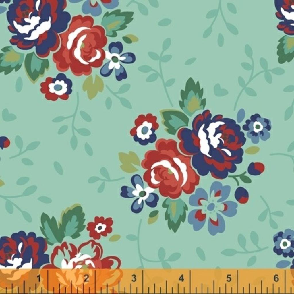 Backyard Blooms- 51819-2 Mint