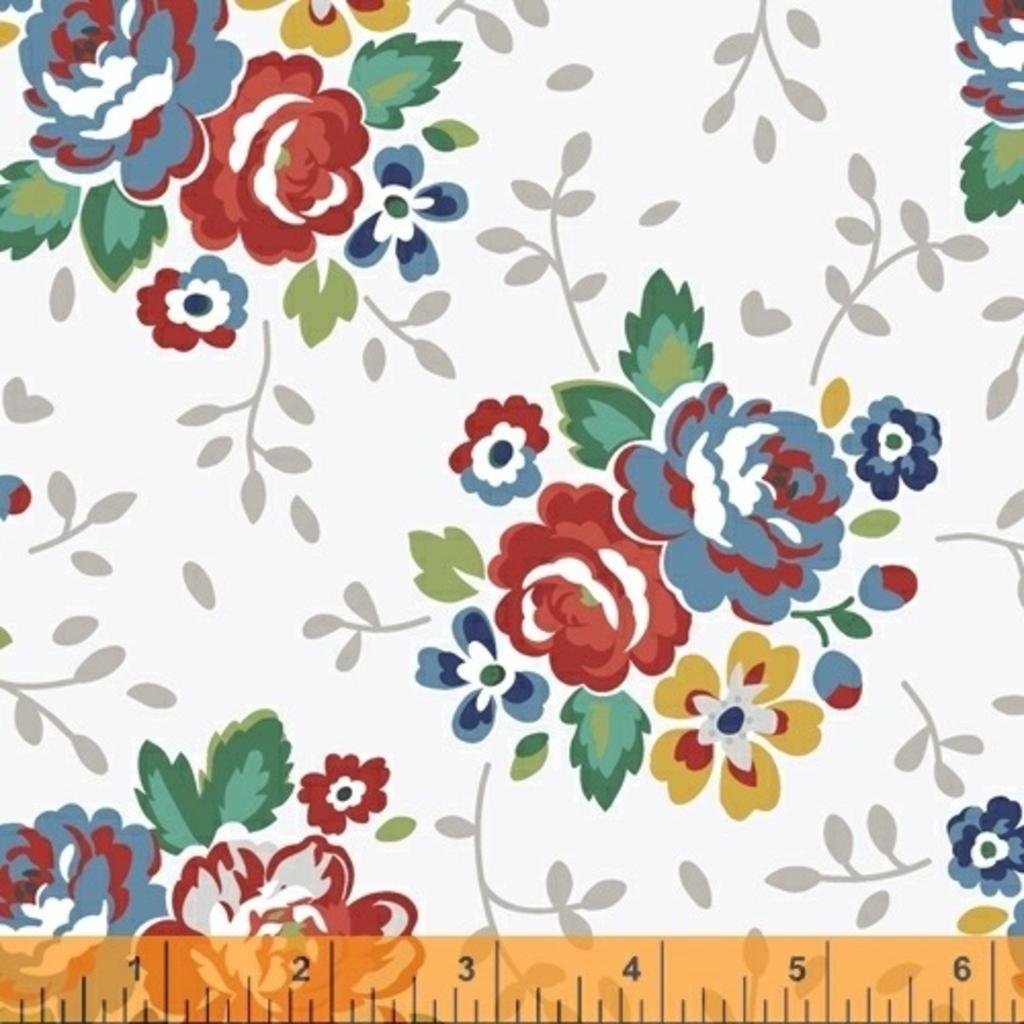 Backyard Blooms- 51819-3 White