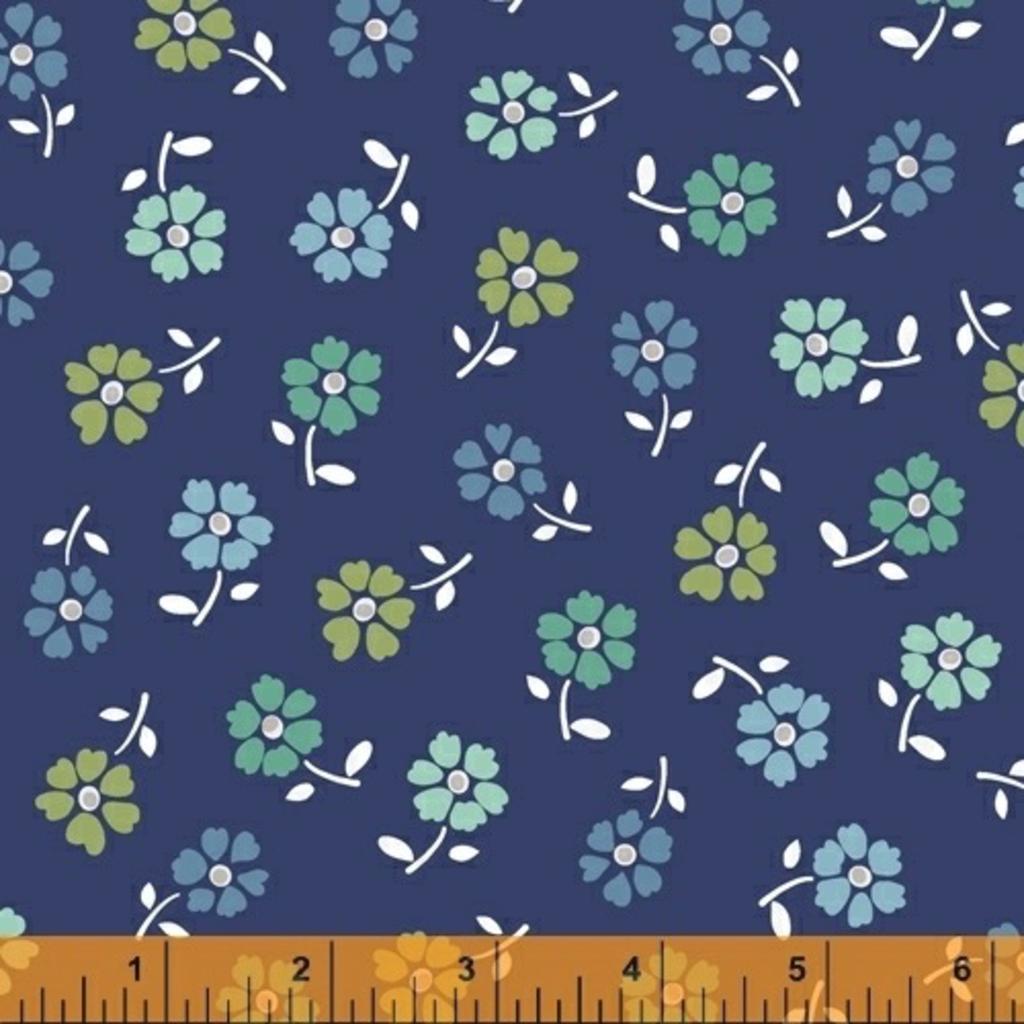 Backyard Blooms- 51826-1 Navy