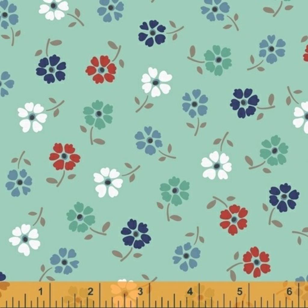 Backyard Blooms- 51826-2 Mint