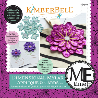 DIMENSIONAL MYLAR APPLIQUE & CARDS, VOLUME 1 MACHINE EMBROIDERY CD