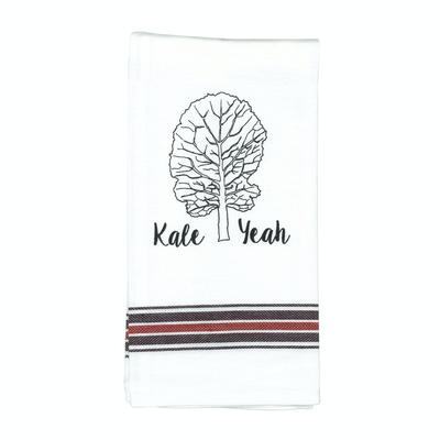 Pun Saying Tea Towel Kale Yeah