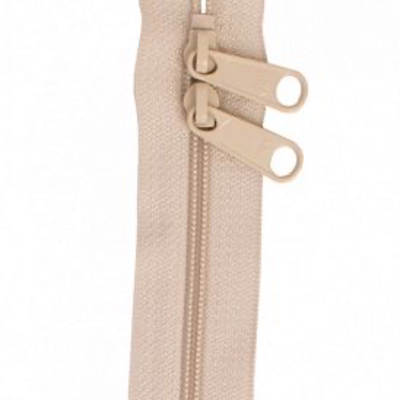 "Handbag Zippers 30"" Double Sided- NATURAL"