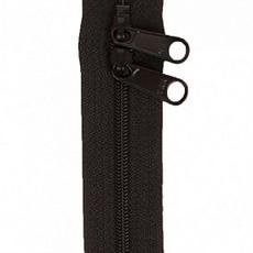 "Handbag Zippers 30"" Double Sided- BLACK"