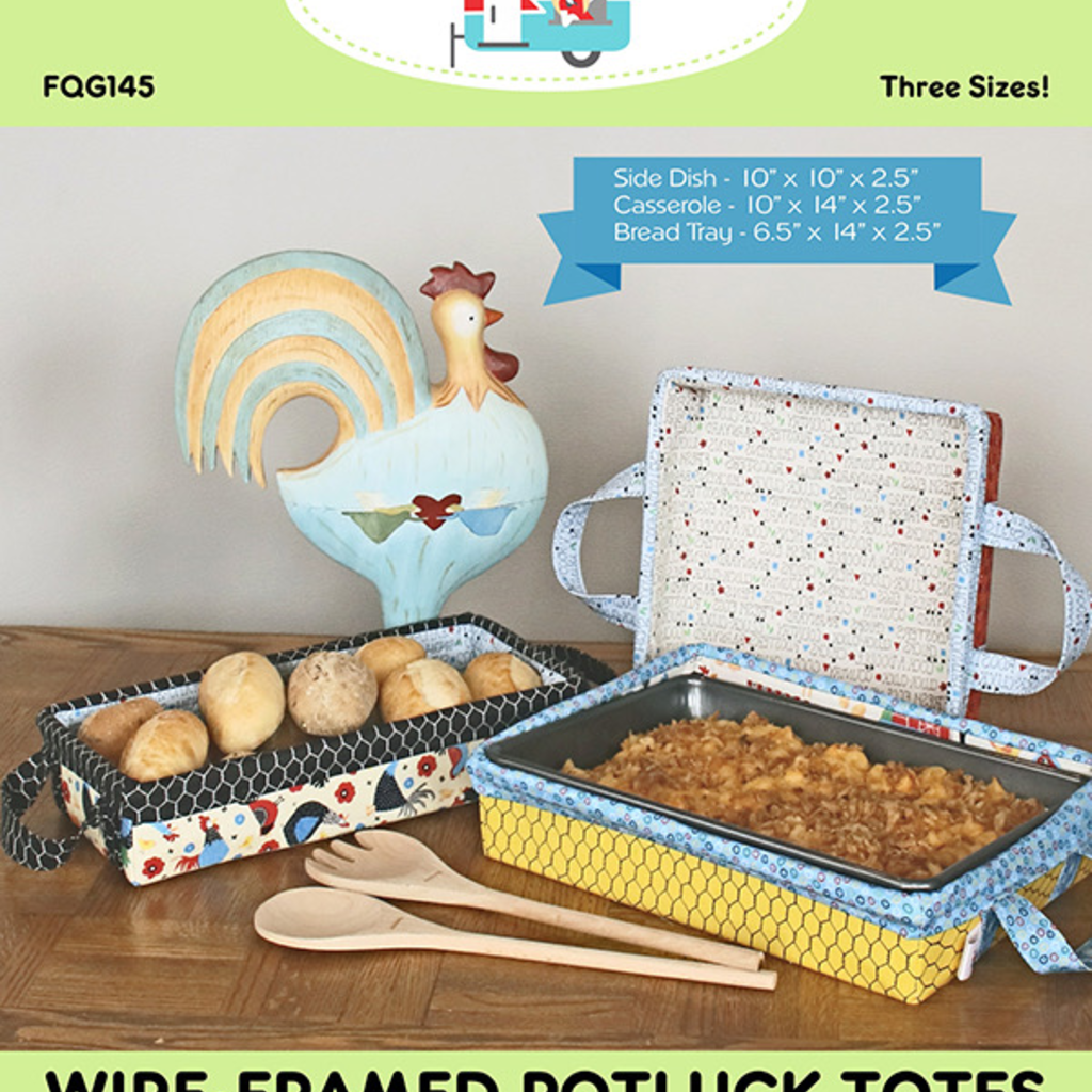 Wire Framed Potluck Totes
