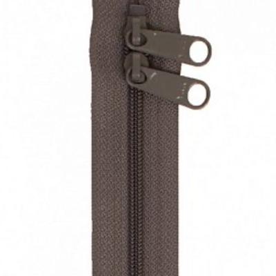 "Handbag Zippers 30"" Double Sided- SLATE GRAY"